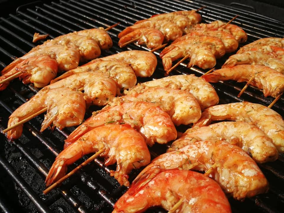 Kepsninėje keptos krevetės